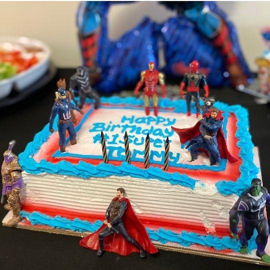 Marvel Avengers birthday party cake